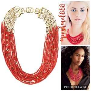 :: Stella & Dot Vivid Coral Red Campari Necklace
